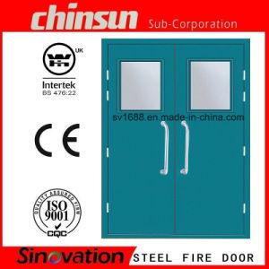 Us Standard Fire Rated Glass Door Steel Door pictures & photos