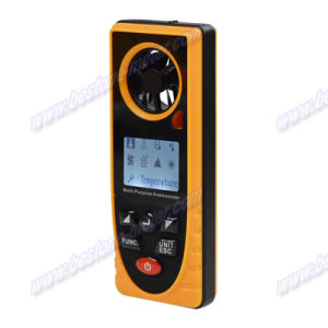 Multi-Purpose Anemometer, Air Velocity, Wind Speed Meter, Thermometer, Anemograph, Arometric Pressure, Altitude, Illumination Be8910 pictures & photos