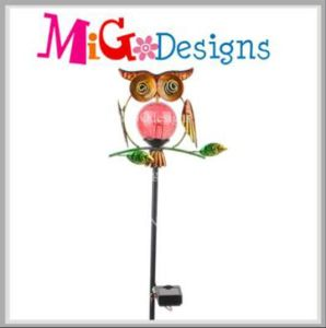 Adorable Owl Garden Decoration Solar Stake Light for Street pictures & photos