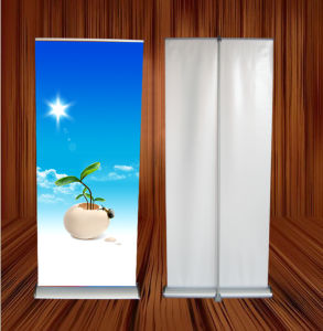 2m Hight Retractable Poles Roll up Display Banner Stand (SR-10) pictures & photos