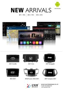 2017 for Honda Civic Andriod 6.0 Built-in WiFi GPS Bt 1024*800 Pixels Car DVD and Mirror Link