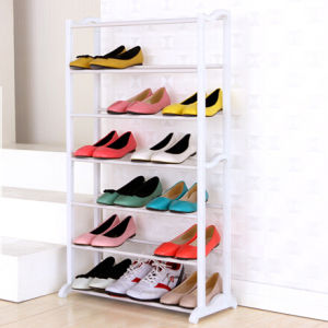 Cheap White Shelf Waterproof Plastic Shoe Rack Stand pictures & photos