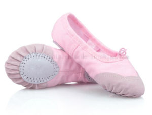 OEM Canvas Soft Ballet Dance Shoes with Skidproof Toe Cap pictures & photos