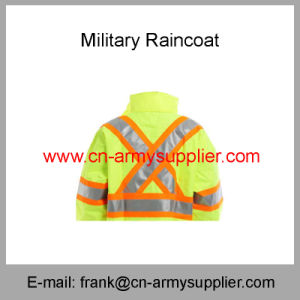Reflective Raincoat-Security Raincoat-Traffic Raincoat-Military Raincoat-Duty Raincoat-Army Raincoat pictures & photos