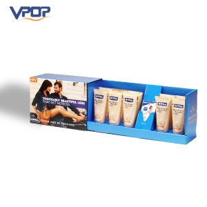 Corrugated Horizontal Counter Display Stand for Cosmetic Products