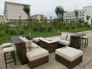 Modular Sofa Set Rattan Bar Set with Fire Pit Table pictures & photos