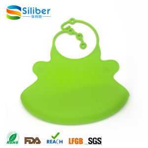 Size Adjustable Soft Cute and BPA Free Baby Silicone Bib pictures & photos