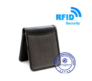 Us Hot New Black RFID Carbon Fiber Security Wallet for Men Hand Purse pictures & photos