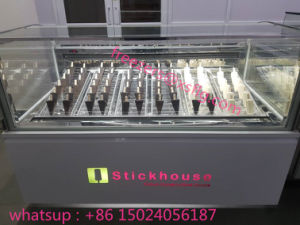 Xsflg Stick Popsicels Display Cabinet /Ice Cream Showcase Freezers pictures & photos