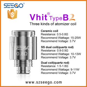 510thread Wax Dry Herb Vaporizer Heating Ceramic Dual Quartz Coil pictures & photos