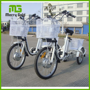 China Factory Supply Three Wheel Adult Electric Cargo Tricycle Bicycle pictures & photos