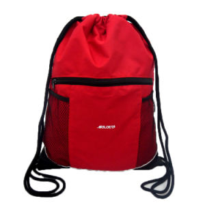 Polyester Nylon Drawstring Bag Backpack (YYDB055) pictures & photos