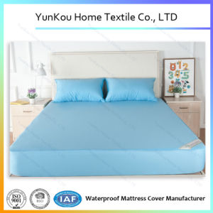 Waterproof Knitting Fabric Mattress Cover in Blue Color Anti-Dustmite pictures & photos