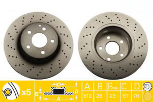 Automotive Brake Components Brake Disc Drilled & Slotted pictures & photos