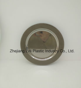 Plastic Plate, Disposable, Tableware, Tray, Dish, PS, SGS, Silver, PA-01 pictures & photos