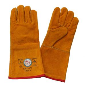 Ce En407 Safety Welders Welding Gloves with Boa Full Lining pictures & photos