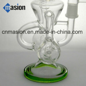 Recycler Glass Smoking Water Pipe (BY010) pictures & photos