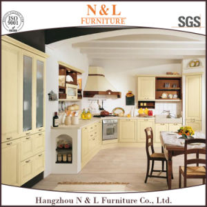 Flat Pack Customized U Shape PVC Kitchen Cabinet pictures & photos