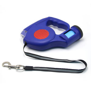 Retractable Dog Leash with LED Flashing Light & Waste Bag Holder pictures & photos