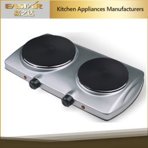 Kitchen Double Burner Electric Hotplate Es-201 Electric Cooktop pictures & photos