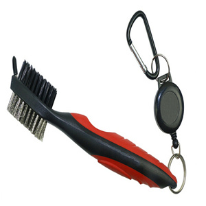 Deluxe Golf Brush with Groover& 2 FT Retractor