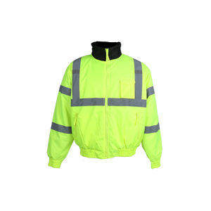 100% Polyester Lightweight Waterproof Reflective Safety Winter Jacket