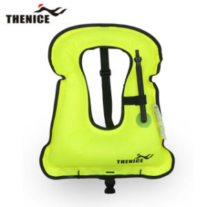 Adult Portable Canvas Life Jacket Snorkel Vest Inflatable pictures & photos