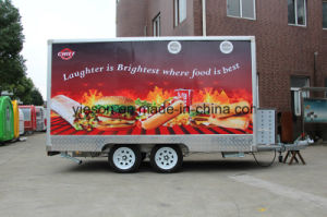 Mobile Drink Traveling Fast Double Axles Food Truck for Sale pictures & photos