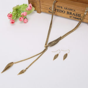 Vintage Tassel Chain Necklace Alloy Leaf Feather Fashion Pendant Necklace Jewelry pictures & photos