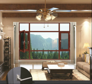 Woodwin Main Product Double Tempered Glass Aluminum Window pictures & photos