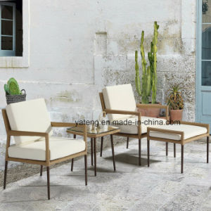 New Outdoor Wicker Rattan Furniture Chair Cafe Bar Coffee Set with Ottoman and Table pictures & photos