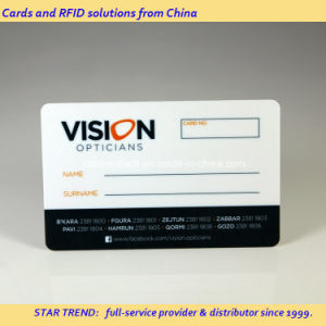 Preprinted Plastic Magnetic Stripe Card for Opticians Loyalty Card pictures & photos