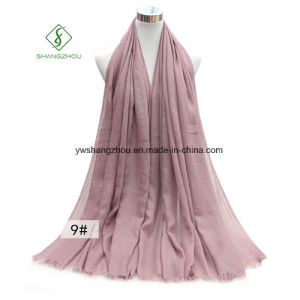 Large Size Monochrome TR Cotton Lady Fashion Scarf pictures & photos