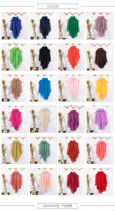 Women′s Long Cotton Scarf Shawl Dual-Use with Solid Color pictures & photos