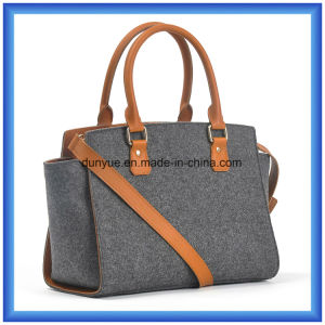 Fashion Ladies Wool Felt Casual Messenger Shoulder Bag, Hot Promotion Shopping Tote Handbag with Adjustable Belt and Comfortable Handle pictures & photos