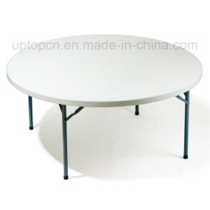 Commercial Metal Round Table with Plastic Top (SP-GT380) pictures & photos