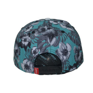Custom Cap Floral 6 Panels Flat Brim Snapback Cap pictures & photos