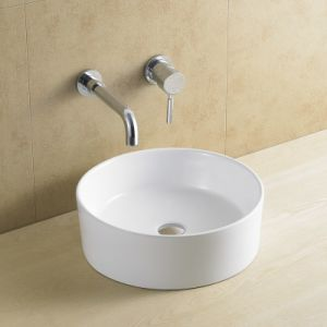 8118 Round Beauty Ceramic Wash Basin No Faucet Hole pictures & photos