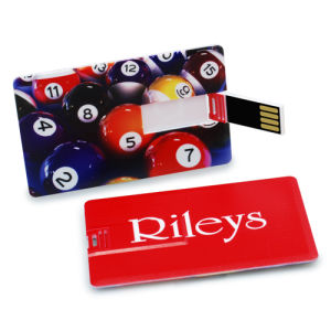 Good Quality Custom Credit Flip Card USB Flash Drive Disk Cmyk Full Color Printing pictures & photos