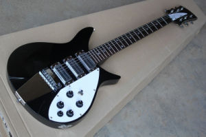 Hanhai Music / Black Ricken Style Electric Guitar with Chrome Hardware pictures & photos