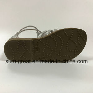 PU Upper Girl′s Sandal with TPR Outsole pictures & photos