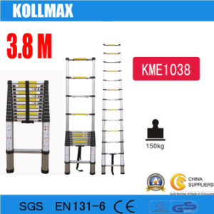 3.8m Telescopic Aluminium Single Ladder pictures & photos