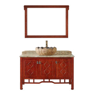 Modern Bathroom Sanitary Ware Cabinet with Mirror (GSP14-017) pictures & photos