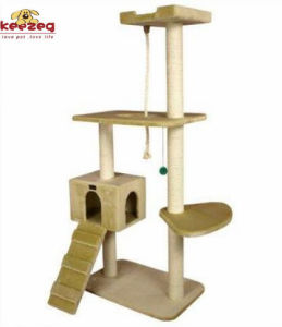 Sturdy Quality Natural Sisal Cat Tree/Cat Scratching Post (KG0005) pictures & photos