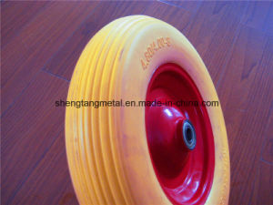 Flat Free Wheelbarrow Tire PU Foam Tire 4.00-8 Polyurethane Foam Wheel pictures & photos