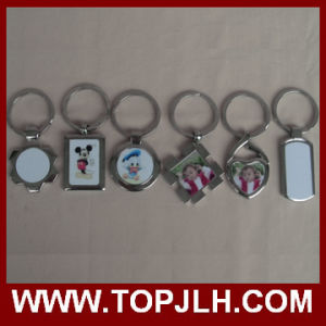 Custom Logo Brand Metal Sublimation Blank Keychain