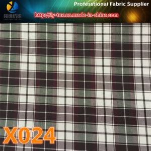 Spots Goods, Polyester Check Textile Fabric for Garment (X021-24) pictures & photos