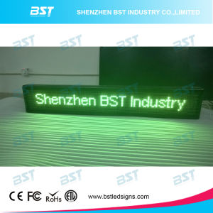 Programmable Semi-Outdoor Green Color LED Moving Sign (P10mm) pictures & photos