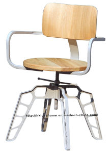 Industrial Metal Restaurant Dining Furniture White Plywood Wooden Swivel Chairs pictures & photos