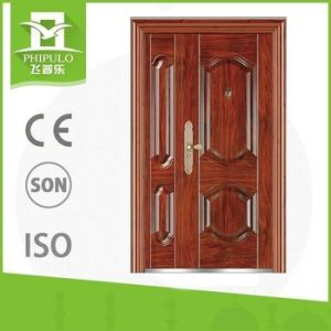 Popular Design Finished Surface Finishing Iron Steel Security Metal Door pictures & photos